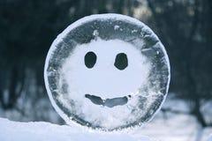 Glace de sourire Photographie stock