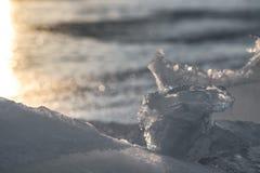 Glace de Sylvan Lake Sunset Over The Image libre de droits
