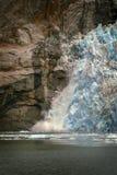 Glace de vêlage sur le glacier de LeConte Image stock