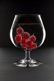 Glace de vin avec l'eau de pétillement et la groseille rouge Photos libres de droits