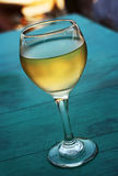 Glace de vin blanc Photos stock