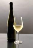 Glace de vin blanc Photographie stock libre de droits