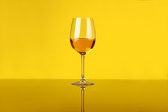 Glace de vin blanc Photo stock