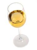 Glace de vin blanc photo stock