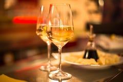 Glace de vin blanc Image stock