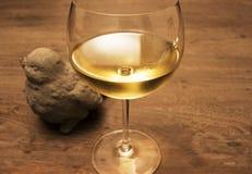 Glace de vin blanc Photos libres de droits