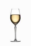 Glace de vin blanc d'isolement Photographie stock libre de droits