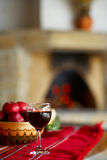 Glace de vin cabernet sauvignon images stock
