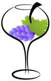 Glace de vin d'Abstact Photos stock