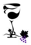 Glace de vin d'Abstact Photographie stock