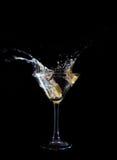 Glace de vin de Martini Photographie stock libre de droits