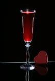 Glace de vin et de coeur Image stock