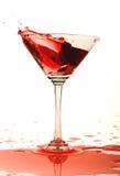 Glace de vin rouge. Images libres de droits