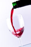 Glace de vin rouge photo libre de droits
