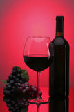 Glace de vin rouge Photo stock