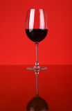Glace de vin rouge Photos stock