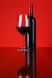 Glace de vin rouge Images stock