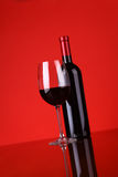 Glace de vin rouge Photo libre de droits