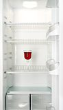 Glace de vin rouge dans un réfrigérateur Image stock