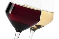 Glace de vin rouge et blanc photo libre de droits