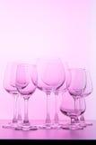 Glace de vin vide Photos stock