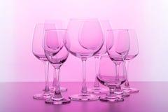 Glace de vin vide Photo stock