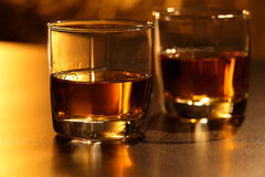 Glace de whiskey Images stock