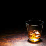 Glace de whiskey Photographie stock