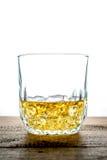 Glace de whiskey avec des glaçons Photo libre de droits