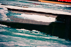 Glace du lac Grassi Photos stock