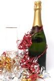 Glace et bouteille Image libre de droits