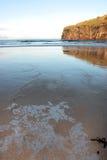 Glace et falaises de plage Image libre de droits