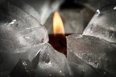 Glace et flamme Images stock