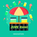 Glace et Juice Shop Conceptual Banner Images stock
