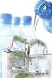 Glace et l'eau Image stock