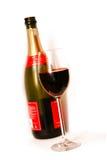 Glace et une bouteille de champagne Photos libres de droits