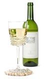 Glace et une bouteille de vin Photographie stock