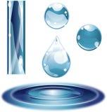 Glace extérieure lustrée de gouttelette d'eau Image libre de droits
