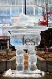 Glace Fest photographie stock libre de droits