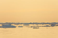 Glace flottant en mer calme Images libres de droits
