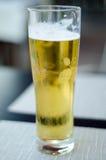 Glace froide de bière Images libres de droits