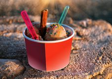 Glace froide de chocolat Images stock