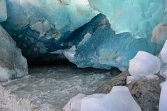 Glace glaciaire Photos libres de droits