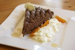 Glace goûtée de chocolat Photos stock