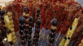 Glace kristalliserade druvajordgubbar för kanderade frukter Royaltyfri Foto