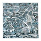 Glace L'eau figée Cristal Élément naturel de mosaïque image stock