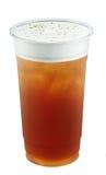 Glace le thé avec la mousse photos libres de droits