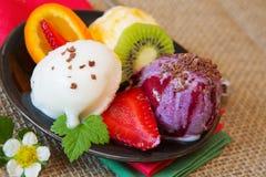 Glace mélangée de fruit images stock