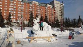 Glace magique de la Sibérie banque de vidéos