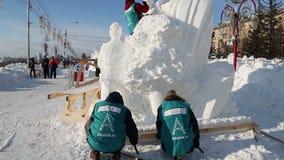 Glace magique de la Sibérie clips vidéos